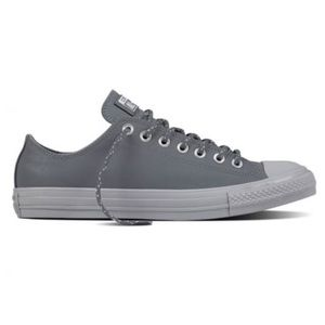 Converse All Star Grey Leather Unisex Sneakers